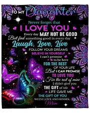 "Never Forget That I Love You Mom To Daughter Fleece Blanket - 50"" x 60"" front"