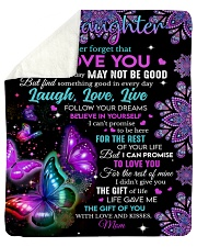 "Never Forget That I Love You Mom To Daughter Sherpa Fleece Blanket - 50"" x 60"" thumbnail"