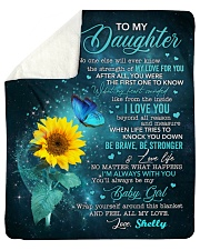 """Personalized - No One Else Will Ever To Daughter Sherpa Fleece Blanket - 50"""" x 60"""" thumbnail"""