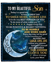 """Son To Be The Very Best Version Of You Fleece Blanket - 50"""" x 60"""" front"""