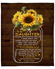 "My Love For U Is Forever Sunflower Mom To Daughter Fleece Blanket - 50"" x 60"" front"