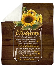 "My Love For U Is Forever Sunflower Mom To Daughter Sherpa Fleece Blanket - 50"" x 60"" thumbnail"