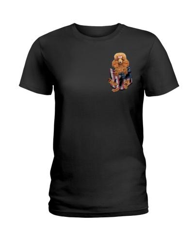 Poodle Flag Pocket