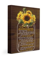 Never 4get That I Love U Grandpa To Granddaughter 11x14 Gallery Wrapped Canvas Prints front