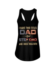 I have two titles Dad and StepDad Flag Ladies Flowy Tank thumbnail