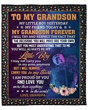 "My Little Boy Yesterday - Grandpa To Grandson Fleece Blanket - 50"" x 60"" front"
