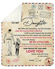 Little Girl Yesterday Friend Today-Dad To Daughter Sherpa Fleece Blanket tile