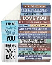 Never Forget That I Love U Boyfriend To Girlfriend Sherpa Fleece Blanket tile
