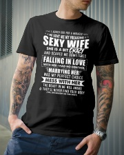God Sent Me My Freaking Sexy Wife Classic T-Shirt lifestyle-mens-crewneck-front-6