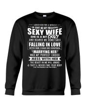 God Sent Me My Freaking Sexy Wife Crewneck Sweatshirt thumbnail