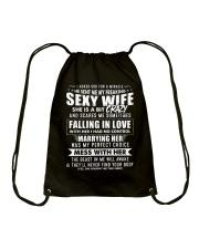 God Sent Me My Freaking Sexy Wife Drawstring Bag thumbnail