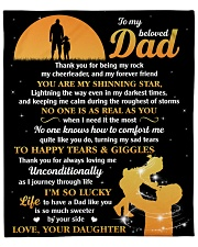 """Dad You're My Shining Star I'm Lucky To Have You Fleece Blanket - 50"""" x 60"""" front"""