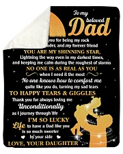 Dad You're My Shining Star I'm Lucky To Have You Sherpa Fleece Blanket tile