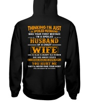 I'm A Spoiled Husband Of A Crazy Wife Hooded Sweatshirt thumbnail