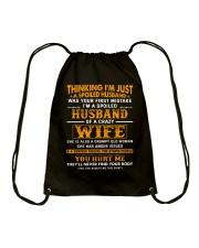 I'm A Spoiled Husband Of A Crazy Wife Drawstring Bag thumbnail
