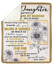 Never Forget U Are My Sunshine Mom To Daughter Sherpa Fleece Blanket tile