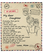"""Daughter My Love For You Is Forever Fleece Blanket - 50"""" x 60"""" front"""