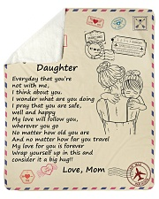 """Daughter My Love For You Is Forever Sherpa Fleece Blanket - 50"""" x 60"""" thumbnail"""