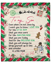 """Even When Im Not Close By Christmas Mom To Son Fleece Blanket - 50"""" x 60"""" front"""