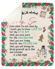 """Even When Im Not Close By Christmas Mom To Son Sherpa Fleece Blanket - 50"""" x 60"""" thumbnail"""
