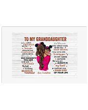 When Life's Troubles Try To Scare To Granddaughter Horizontal Poster tile