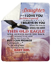 """Never Forget That I Love U Dad To Daughter Sherpa Fleece Blanket - 50"""" x 60"""" thumbnail"""