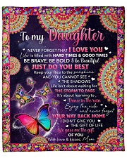 """Never Forget I Love U Butterfly Mom To Daughter Fleece Blanket - 50"""" x 60"""" front"""