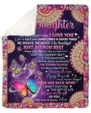 Never Forget I Love U Butterfly Mom To Daughter Sherpa Fleece Blanket tile