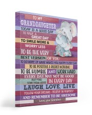 Today Is A Good Day - Elephant To Granddaughter 16x20 Gallery Wrapped Canvas Prints front
