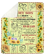 """I Want U To Believe Deep In Your Heart-Mom To Son Sherpa Fleece Blanket - 50"""" x 60"""" thumbnail"""