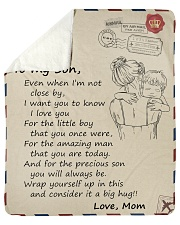 """Son I Love U For The Amazing man That U Are Today Sherpa Fleece Blanket - 50"""" x 60"""" thumbnail"""