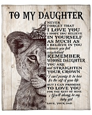 """Never Forget That I Love You-Lion Dad To Daughter Fleece Blanket - 50"""" x 60"""" front"""