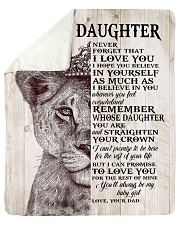 Never Forget That I Love You-Lion Dad To Daughter Sherpa Fleece Blanket tile