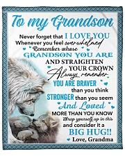 "Wolf Never 4get I Love U Grandma To Grandson Fleece Blanket - 50"" x 60"" front"