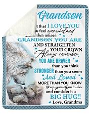 Wolf Never 4get I Love U Grandma To Grandson Sherpa Fleece Blanket tile