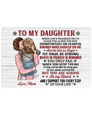 When Life's Troubles Try Scare You Mom To Daughter Horizontal Poster tile