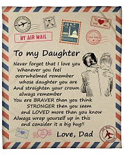"""Never Forget That I Love You Dad-To-Daughter Fleece Blanket - 50"""" x 60"""" front"""