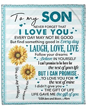 """Never Forget I Love You Mom To Son Fleece Blanket - 50"""" x 60"""" front"""