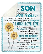 """Never Forget I Love You Mom To Son Sherpa Fleece Blanket - 50"""" x 60"""" thumbnail"""
