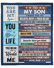 """I Want U To Believe Deep In Your Heart Dad To Son Fleece Blanket - 50"""" x 60"""" front"""