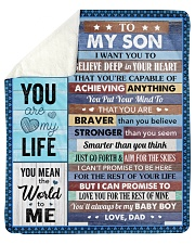 I Want U To Believe Deep In Your Heart Dad To Son Sherpa Fleece Blanket tile