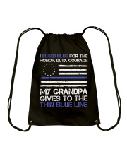 My Grandpa Gives To The Thin Blue Line Drawstring Bag tile