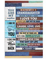 Never Forget That I Love U-Nanny To Granddaughter Vertical Poster tile
