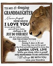 "Never 4get How Much LoveU-Grandma To Granddaughter Fleece Blanket - 50"" x 60"" front"