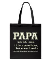 Papa Definition Tote Bag thumbnail