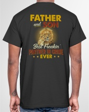 Lion Father Son Best Freakin' Partner In Crime  Classic T-Shirt garment-tshirt-unisex-back-04