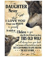 To My Daughter Love You For The Rest Of Mine 11x17 Poster front