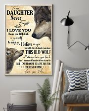 To My Daughter Love You For The Rest Of Mine 11x17 Poster lifestyle-poster-1