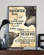 To My Daughter Love You For The Rest Of Mine 11x17 Poster lifestyle-poster-2