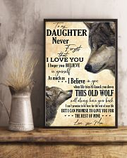 To My Daughter Love You For The Rest Of Mine 11x17 Poster lifestyle-poster-3